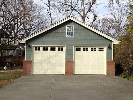 Two Car Detached Garage - 22x22-Lap-with-Brick