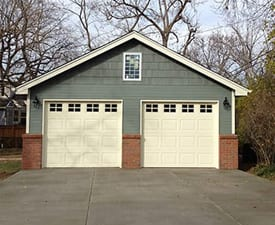 Two Car Detached Garage - 22x22-Lap-with-Brick-275w